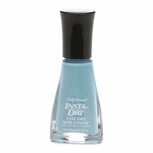 Tested The Insta Dri Fast Dry Nail Color With And Without BaseSally Hansen Insta Dri Blue Away