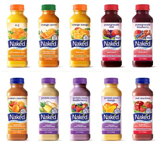 A Protein-Focused line of Naked Juice smoothies (marketed as protein zone) ...
