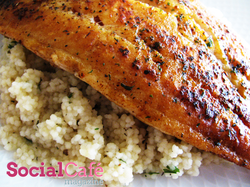Swai Fillets Over Couscous Recipe