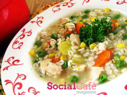 Chicken Soup with Veggies and Pearl Barley Recipe
