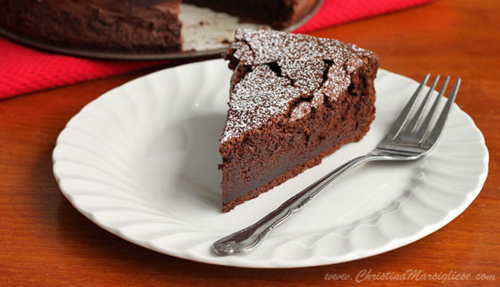 Almost Angelic Chocolate Souffle Cake