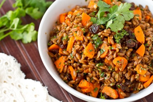 ... Raisin Spelt Berry Salad With Cumin And Cilantro Recipes — Dishmaps