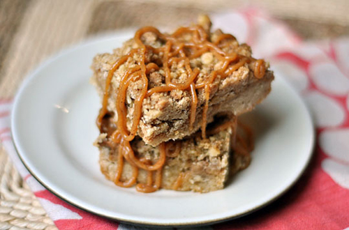 Cinnamon Walnut Dulce de Leche Bars