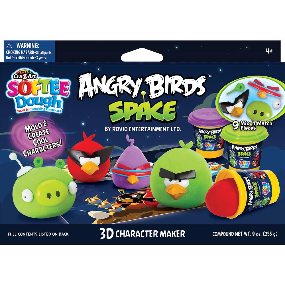 Cra z art softee dough angry birds space 3d character maker playset voltagebd Images