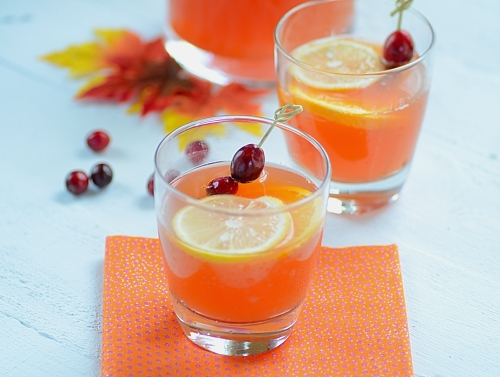 Sparkling Cranberry-Passion Fruit Cocktail by From Brazil To You
