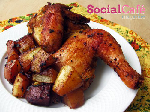 Oven Roasted Chicken and Potatoes Recipe