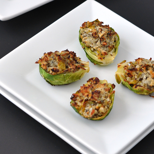 Garlic & Herb Stuffed Brussels Sprouts