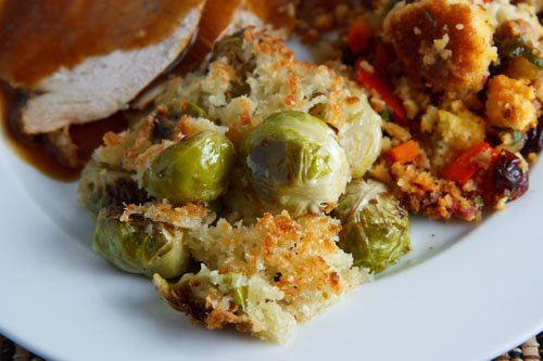 Roasted Brussels Sprouts Gratin