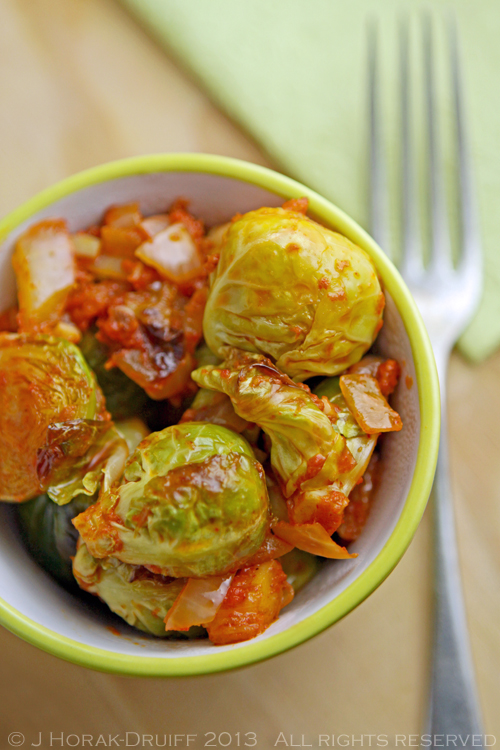 Sautéed Brussels Sprouts with Nduja and Preserved Lemon