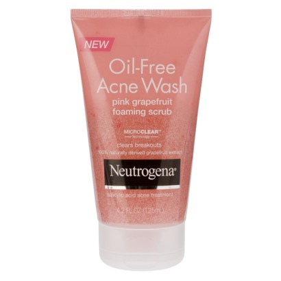 Neutrogena Oil-Free Acne Wash Foaming Scrub - Pink Grapefruit
