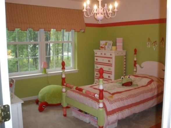 Girls bedroom room wedding souvenir best free home for Pink green bedroom designs