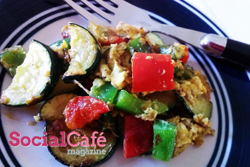 Simple Veggie Scrambled Egg for One