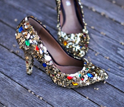 D&G Sequin & Jewel Embellished Shoe
