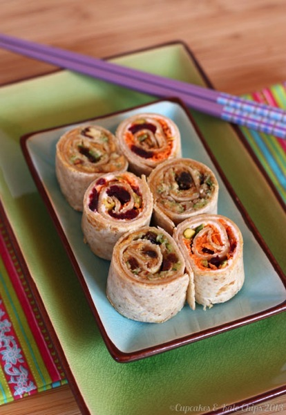 Carrot Cake & Zucchini Bread Sushi for Lunchbox