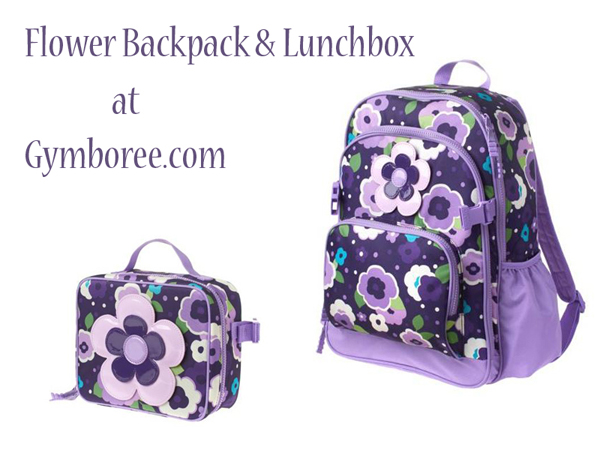 Flower Backpack & Lunchbox at Gymboree