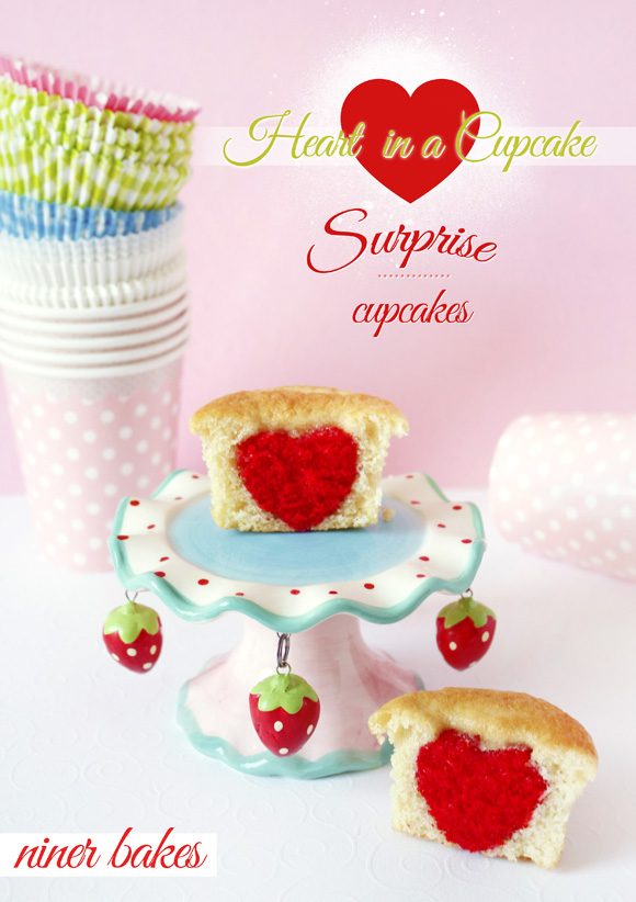 Heart in a Cupcake - Surprise Cupcakes