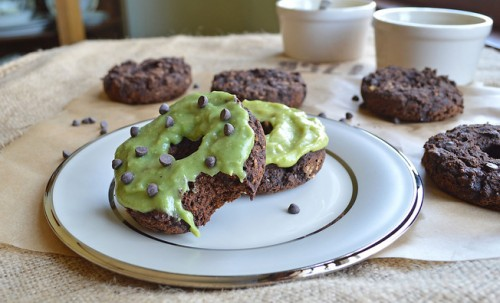 Mint Chocolate Chip Donuts