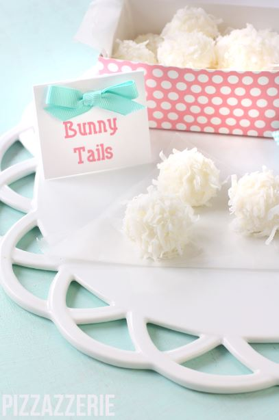 Easter Bunny Tail Truffles