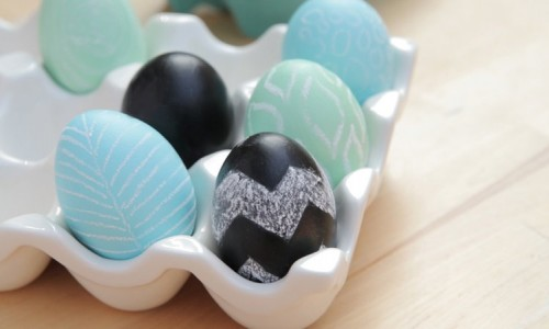 Easter Chalk Eggs