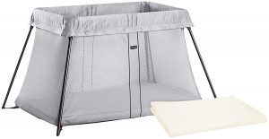 BABYBJORN Travel Crib Light Bundle Pack - Silver