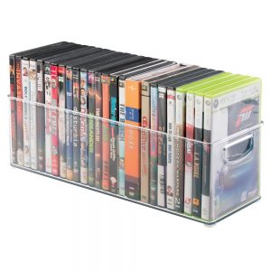 mDesign Household Storage Bin for DVDs, PS4 and Xbox Video Games
